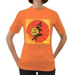Vector Asian Flowers Women s Dark T Shirt