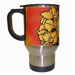 Vector Asian Flowers Travel Mugs (white)
