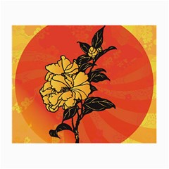 Vector Asian Flowers Small Glasses Cloth (2 Side)