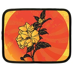 Vector Asian Flowers Netbook Case (large)