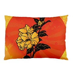 Vector Asian Flowers Pillow Case