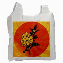 Vector Asian Flowers Recycle Bag (one Side)