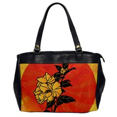 Vector Asian Flowers Office Handbags