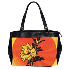 Vector Asian Flowers Office Handbags (2 Sides)