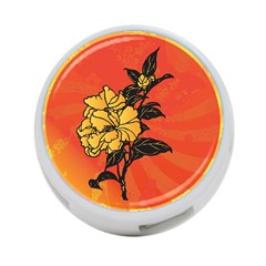 Vector Asian Flowers 4 Port Usb Hub (two Sides)