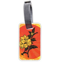 Vector Asian Flowers Luggage Tags (one Side)