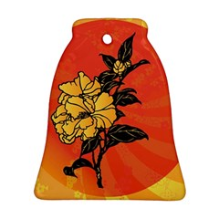 Vector Asian Flowers Bell Ornament (two Sides)