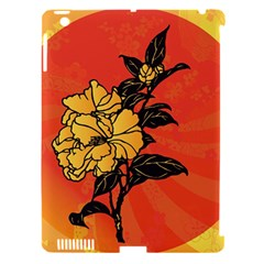 Vector Asian Flowers Apple Ipad 3/4 Hardshell Case (compatible With Smart Cover)