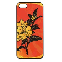 Vector Asian Flowers Apple Iphone 5 Seamless Case (black)