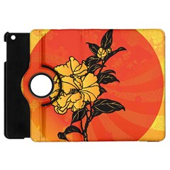 Vector Asian Flowers Apple Ipad Mini Flip 360 Case