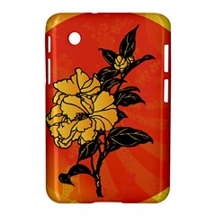 Vector Asian Flowers Samsung Galaxy Tab 2 (7 ) P3100 Hardshell Case