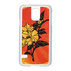 Vector Asian Flowers Samsung Galaxy S5 Case (white)