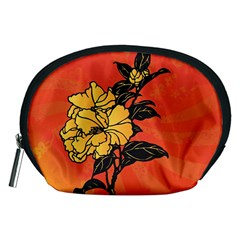 Vector Asian Flowers Accessory Pouches (medium)
