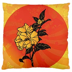 Vector Asian Flowers Large Flano Cushion Case (one Side)