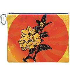 Vector Asian Flowers Canvas Cosmetic Bag (xxxl)