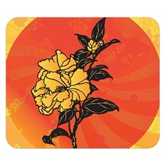 Vector Asian Flowers Double Sided Flano Blanket (small)