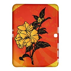 Vector Asian Flowers Samsung Galaxy Tab 4 (10 1 ) Hardshell Case