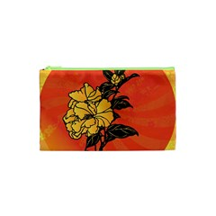 Vector Asian Flowers Cosmetic Bag (xs)