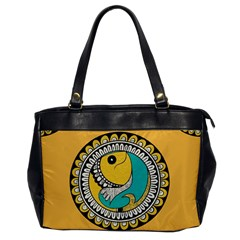 Madhubani Fish Indian Ethnic Pattern Office Handbags