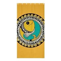 Madhubani Fish Indian Ethnic Pattern Shower Curtain 36  X 72  (stall)