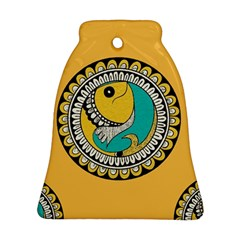 Madhubani Fish Indian Ethnic Pattern Bell Ornament (two Sides)