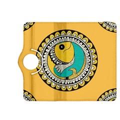 Madhubani Fish Indian Ethnic Pattern Kindle Fire Hdx 8 9  Flip 360 Case