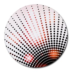 Radial Dotted Lights Round Mousepads