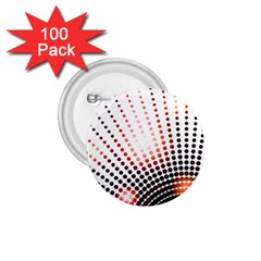 Radial Dotted Lights 1 75  Buttons (100 Pack)