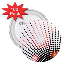 Radial Dotted Lights 2 25  Buttons (100 Pack)