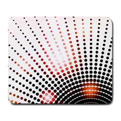 Radial Dotted Lights Large Mousepads