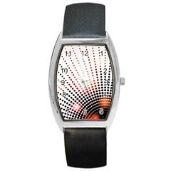 Radial Dotted Lights Barrel Style Metal Watch