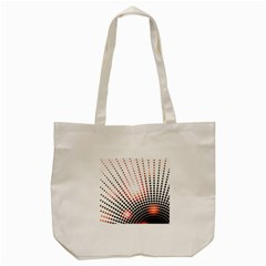 Radial Dotted Lights Tote Bag (cream)