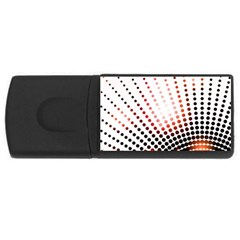 Radial Dotted Lights Rectangular Usb Flash Drive