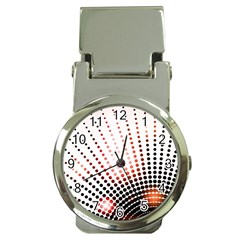 Radial Dotted Lights Money Clip Watches