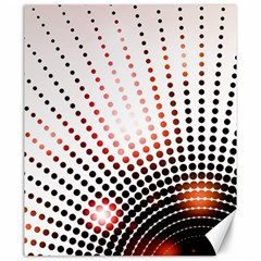 Radial Dotted Lights Canvas 20  X 24