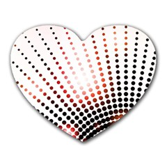 Radial Dotted Lights Heart Mousepads