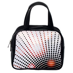 Radial Dotted Lights Classic Handbags (one Side)