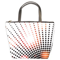Radial Dotted Lights Bucket Bags
