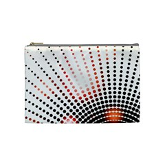 Radial Dotted Lights Cosmetic Bag (medium)