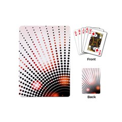 Radial Dotted Lights Playing Cards (mini)