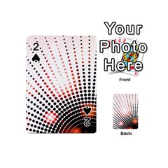 Radial Dotted Lights Playing Cards 54 (mini)