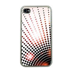 Radial Dotted Lights Apple Iphone 4 Case (clear)