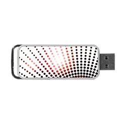 Radial Dotted Lights Portable Usb Flash (one Side)