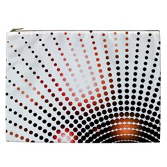 Radial Dotted Lights Cosmetic Bag (xxl)