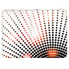 Radial Dotted Lights Samsung Galaxy Tab 7  P1000 Flip Case