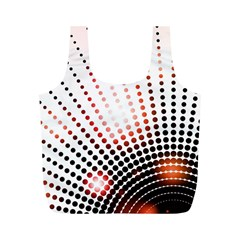 Radial Dotted Lights Full Print Recycle Bags (m)