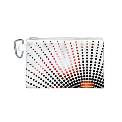 Radial Dotted Lights Canvas Cosmetic Bag (s)