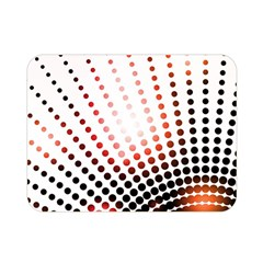 Radial Dotted Lights Double Sided Flano Blanket (mini)
