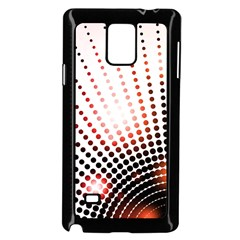 Radial Dotted Lights Samsung Galaxy Note 4 Case (black)
