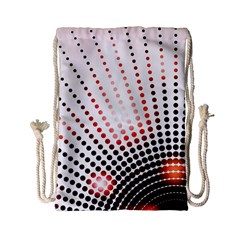 Radial Dotted Lights Drawstring Bag (small)